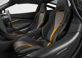Interior of McLaren 2017 Orange supercar