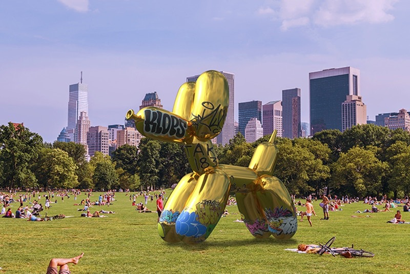 Jeff Koons's 'Balloon Dog' for Snapchat Got Virtually Vandalized