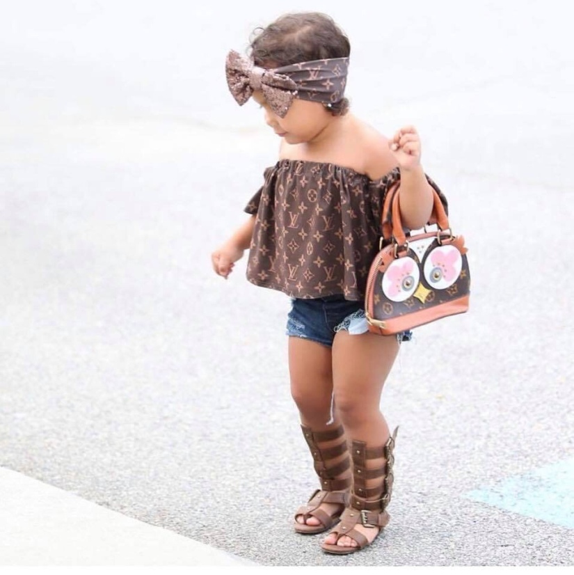 Who said little kiddies can't befashionable?